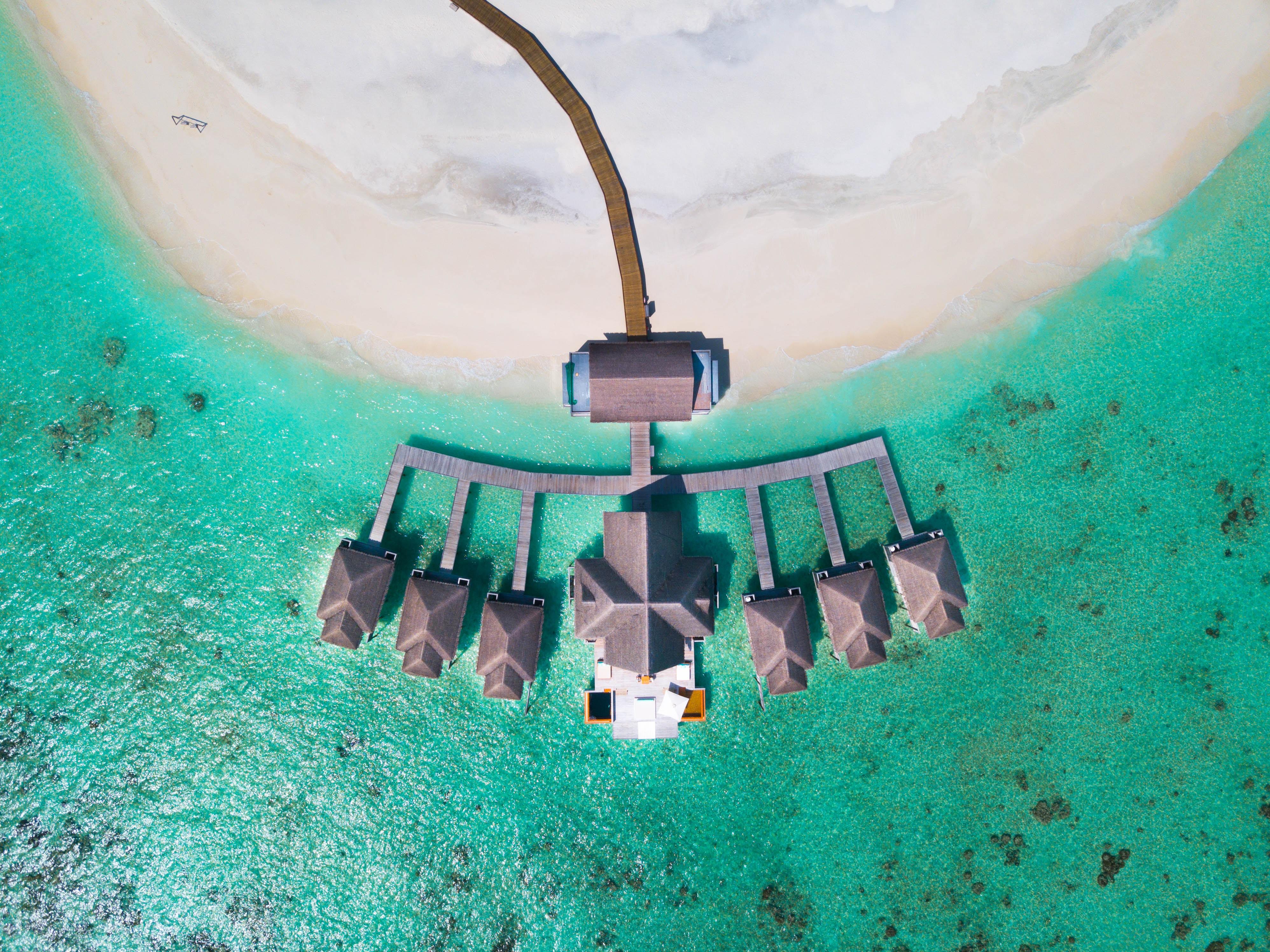 hotel beach dron